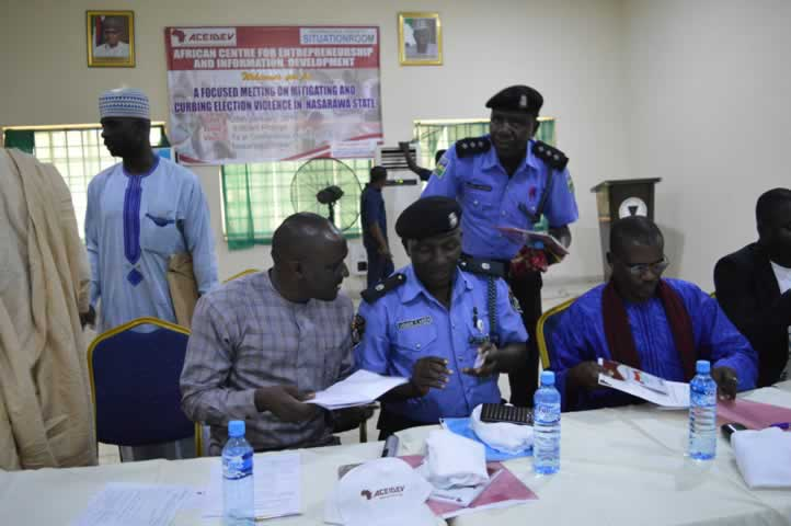 Election Engagement in Nasarawa State - Nigeria Police Role