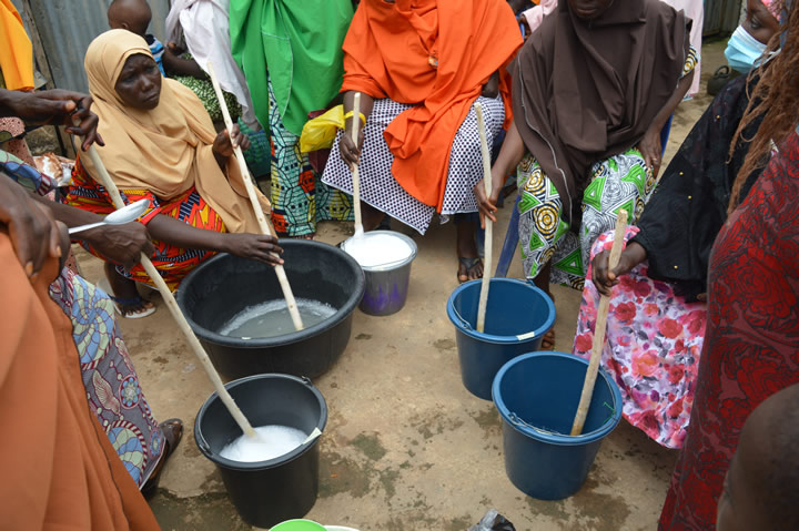 day2 hands-on training on liquid soap production in bwari fct8